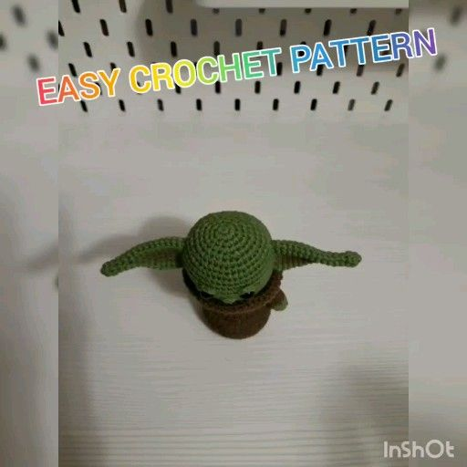 Photo of PATTERN Baby Alien Crochet Amigurumi Pattern.  Little green Alien inspired amigurumi