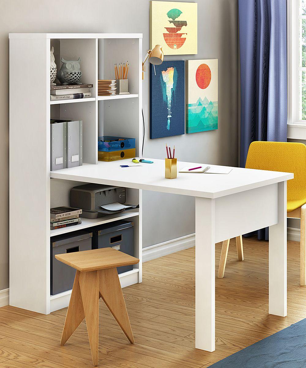 South Shore Furniture Annexe Work Table Storage Unit Zulily Muebles Para Espacios Reducidos Muebles Escritorios Abatibles
