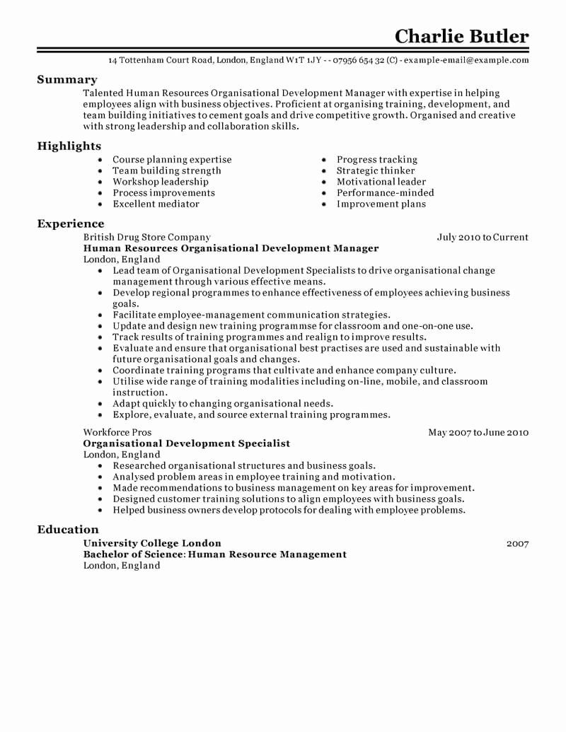Human Resource Manager Resume Examples Elegant Best