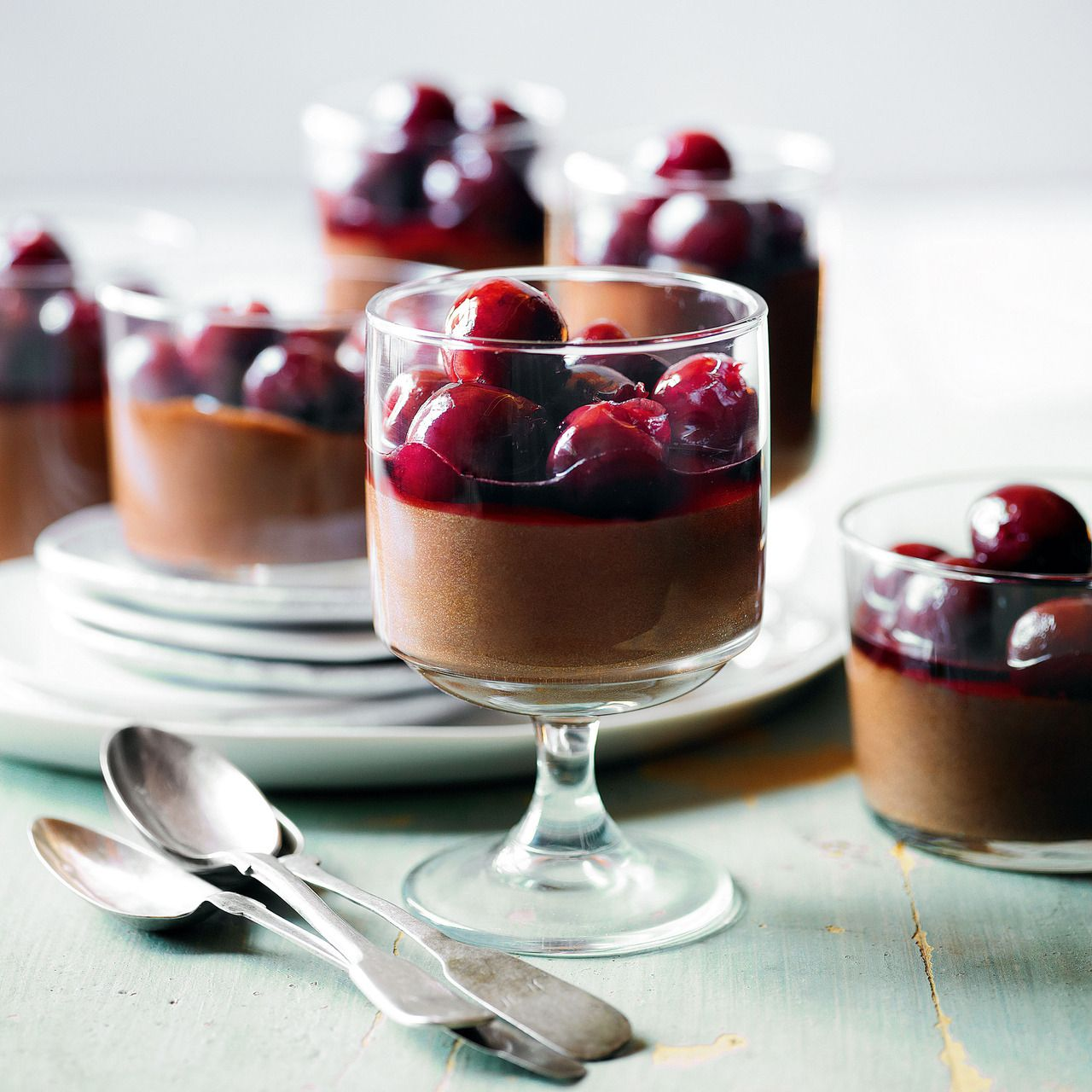 Cardamom Chocolate Mousse with Fresh Cherry Compote, a delicious recipe in the new M&S app.