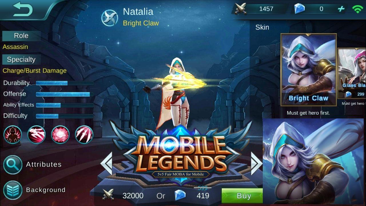 Mobile Legends Natalia Assassin Charge Burst Damage Mobile Legends Assassin Legend