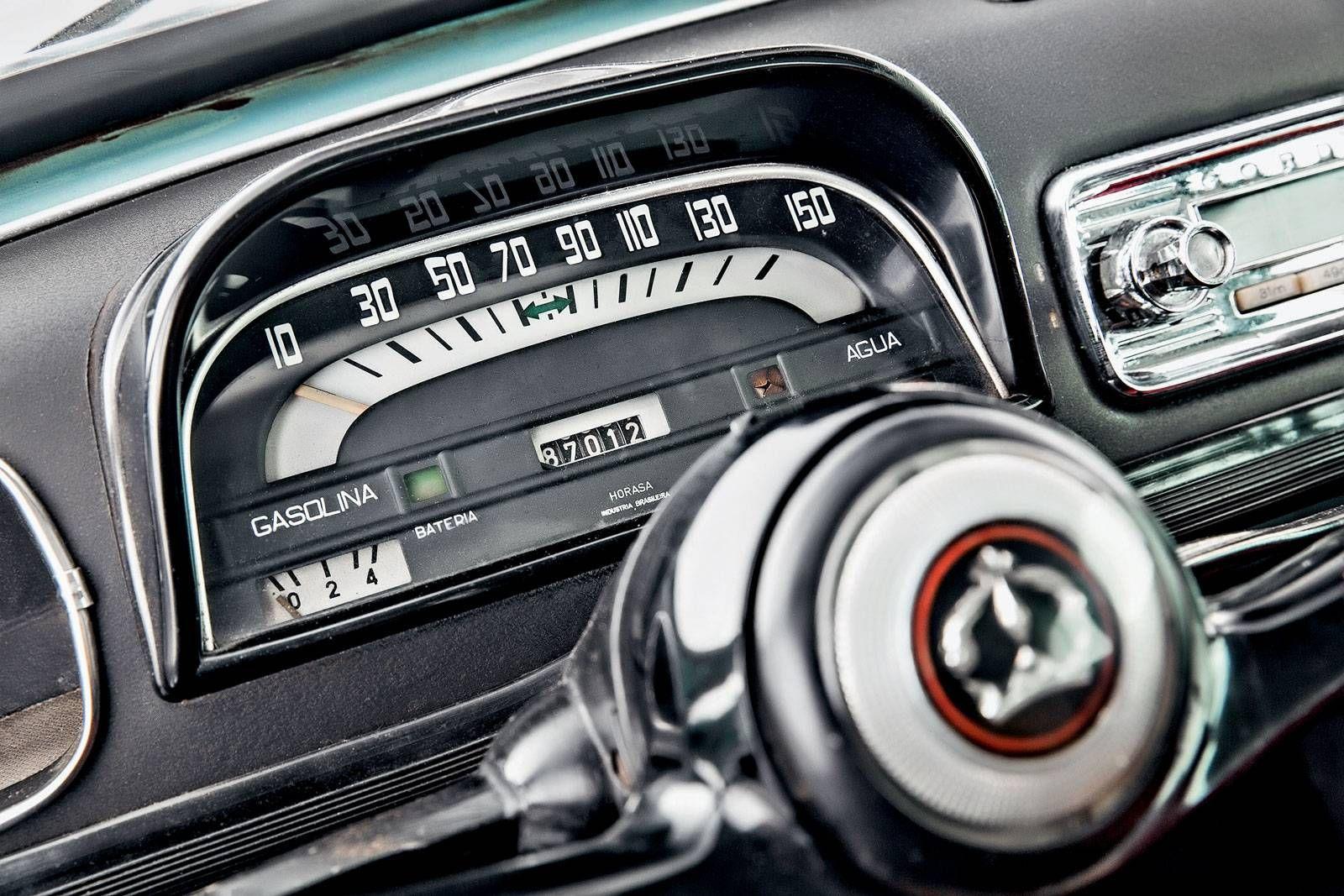 Classicos Willys Gordini Moderno E Mais Rapido Painel De Carro