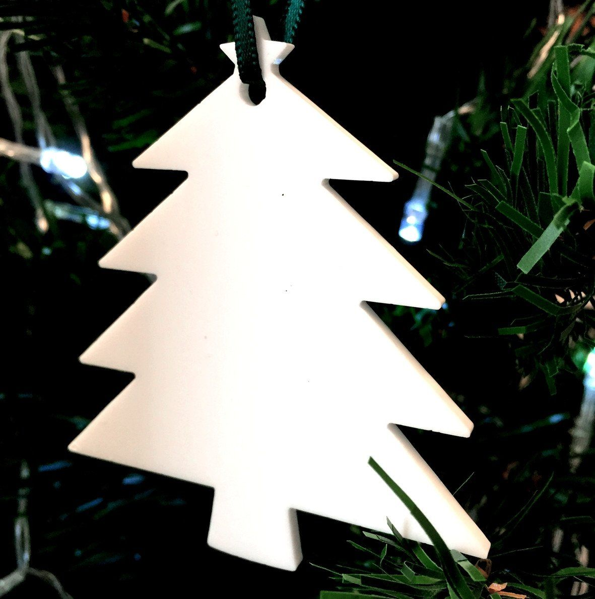 White Christmas Tree Christmas Tree Decoration Pack Of Ten Continue To The Product At The Christmas Tree Decorations Tree Decorations White Christmas Tree