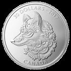 2017 Canada $30 Zentangle Art: The Great Grey Wolf  - 2 Oz Pure Silver Coin Limited Time #zentangleart #artpure #wolfart