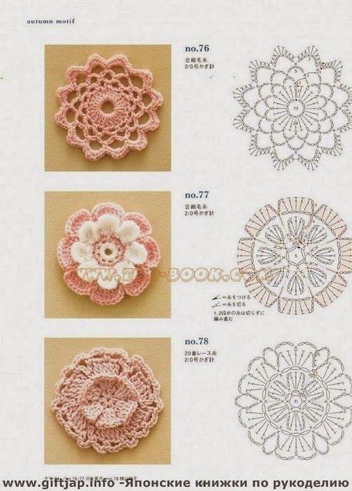 Meu Paraiso: Graficos | croches | Pinterest | Flores, Flor y Círculos
