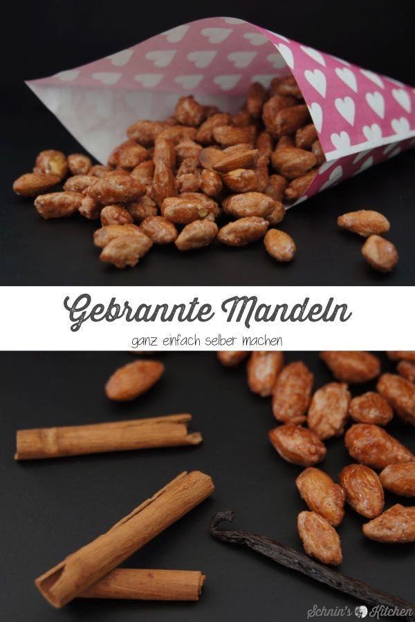 Gebrannte Mandeln mit Vanille und Zimt - Schnin's Kitchen #weihnachtsmarktideenverkauf