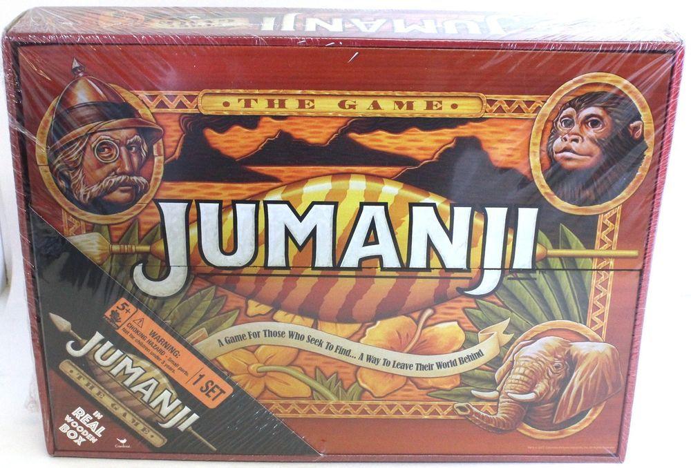 Jumanji Board Game Cardinal Edition Wooden Box Wood Seek To Find Up