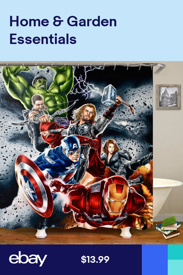 The Avengers Waterproof Fabric Shower Curtain Cartoon Bathroom Curtain 70x70 Fabric Shower Curtains Bathroom Curtains Waterproof Fabric