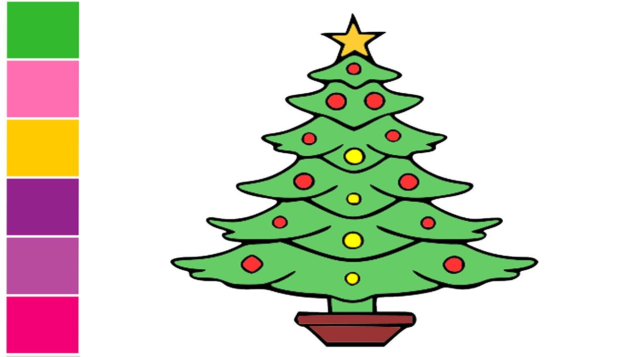 Learn How To Draw A Christmas Tree Christmas Tree Drawing