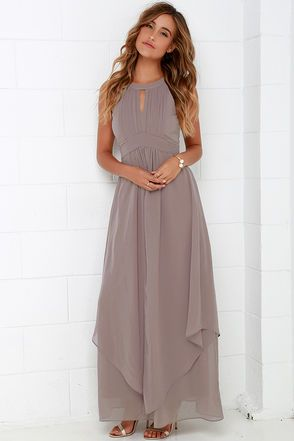 1c42af0c597 Beautiful Taupe Red Maxi Dress - Homecoming Dress - Prom Dress -  88.00