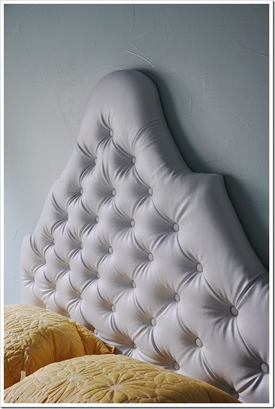 Lieblich Tufted Headboard @Louise Cote Living With Punks · Diy ...