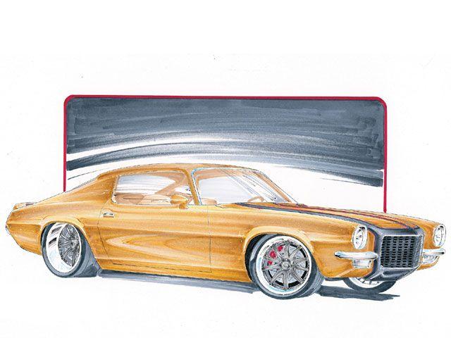 Cartoon Drawing | Cartoon Car Drawings | 70 Camaro. | Cool ...
