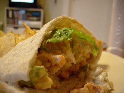 Buffalo Chicken Salad on Pita#CHICKEN RECIPES#
