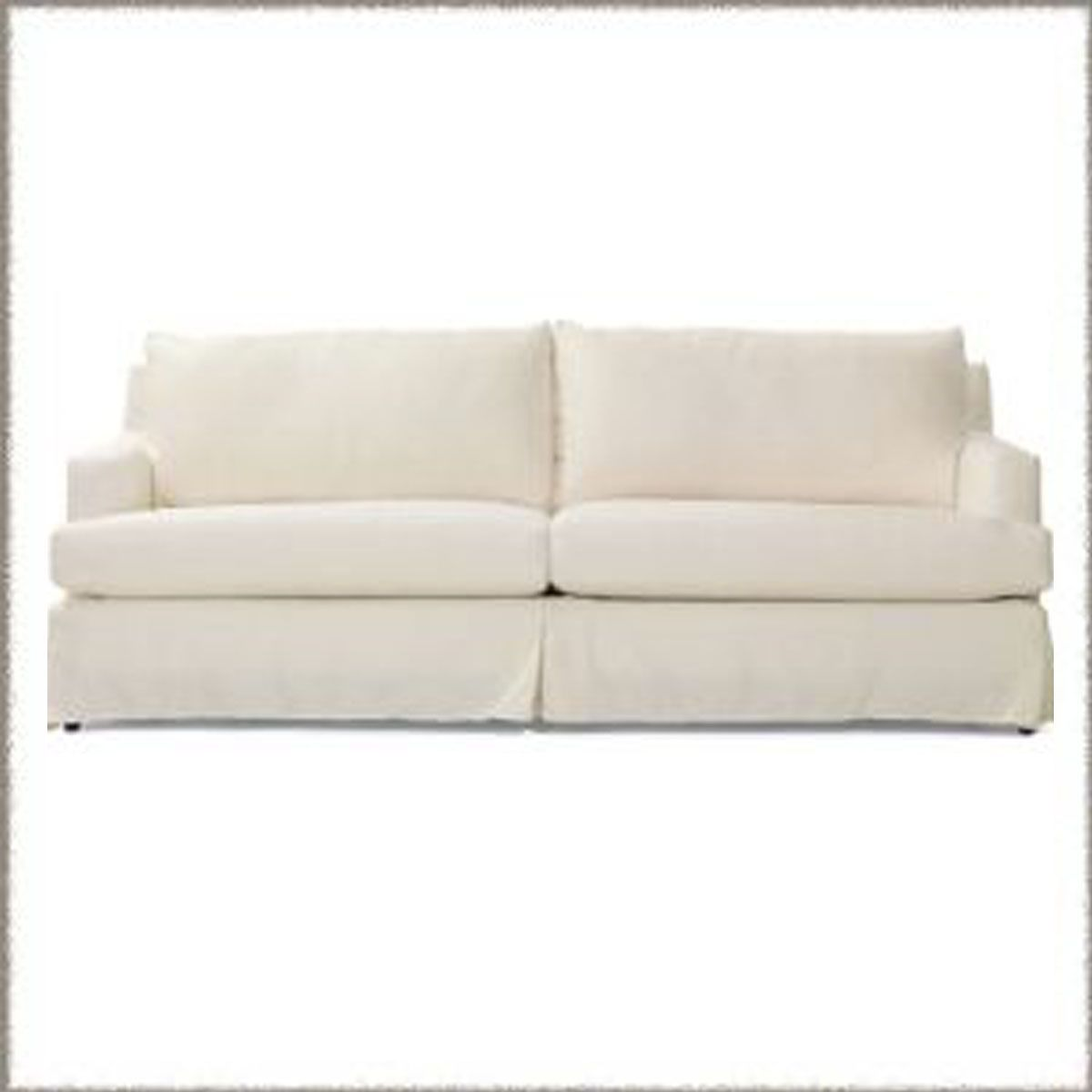 beach house sofa slipcover attached pillow back kennebunk slipcovered 75 or 85w x 39d 35h from our boat
