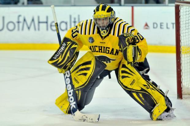 University Of Michigan Hockey Goalies Google Search Michigan Hockey Hockey Goalie Goalie