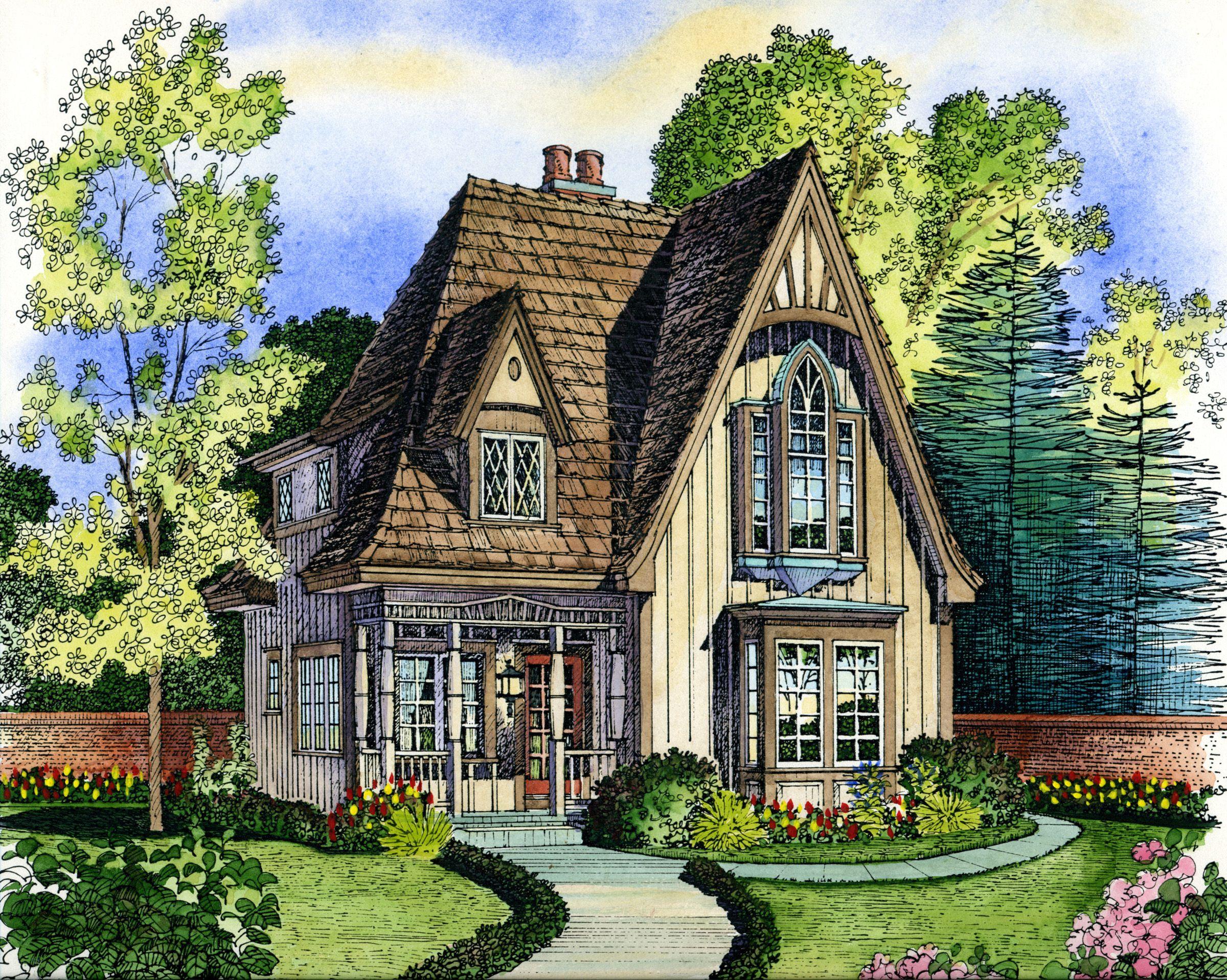 English Stone Cottage House Plans plan 43000pf: adorable cottage | gotico, ciondoli e cottage