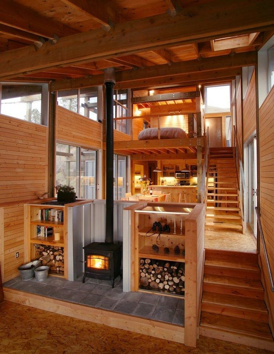 ✔49 rustic tiny house design that make you amazed 17 > Fieltro.Net