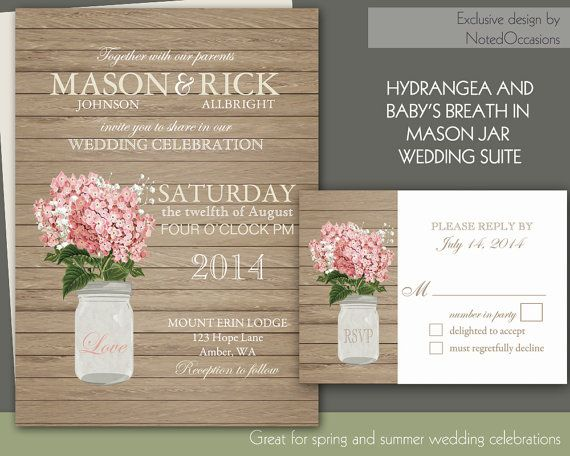 bfc8fc7cf5c Rustic Wedding Invitation Template Printable Mason Jar Wedding ...