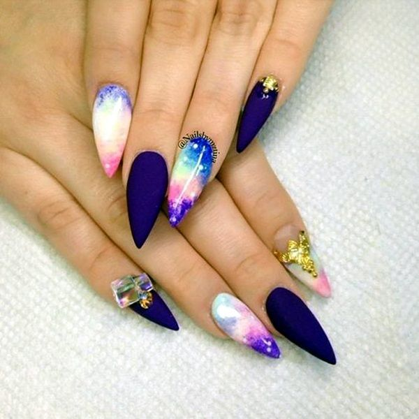 50 Easy Stiletto Nails Designs and Ideas - 50 Easy Stiletto Nails Designs And Ideas Stilettos, Latest Nail