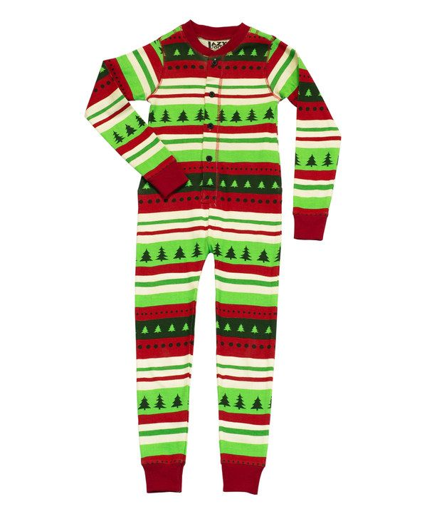 706979851ceb Lazy One Green   Red  Special Delivery  Flapjack Pajamas - Toddler ...