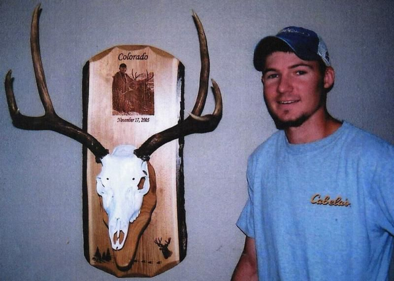 Mule Deer Skull Plaque Laser Engraved With An Image From