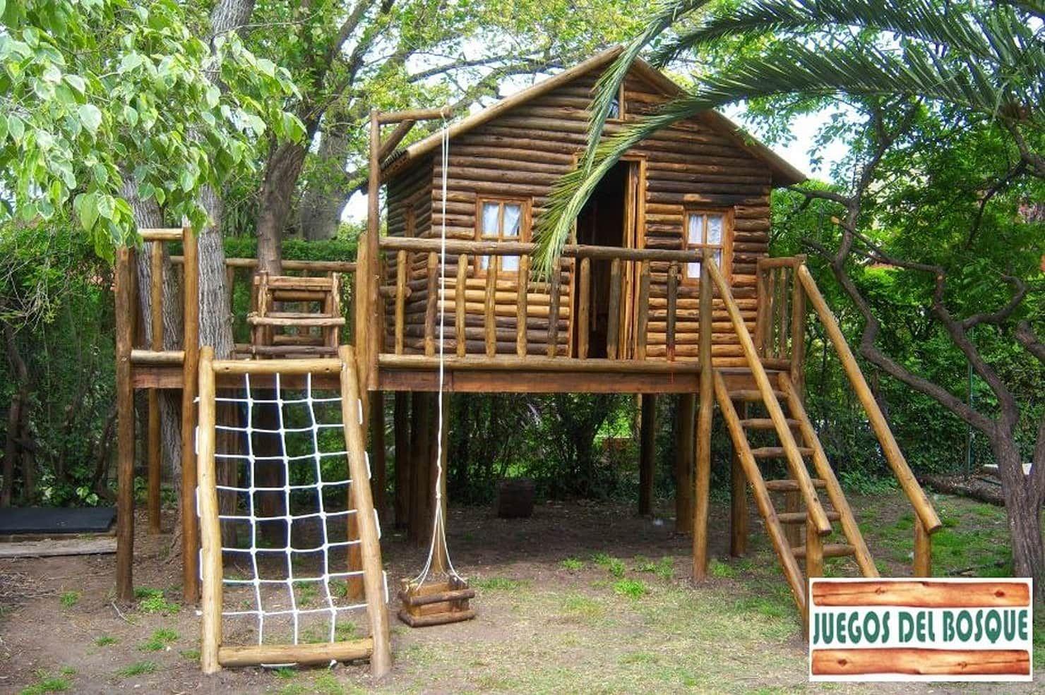 Juegos Y Casitas Para Niños Juegos Del Bosque Jardinesdecoración Y Accesorios Homify Casa De Juegos Exterior Casa De árbol Niños Casa De Niños