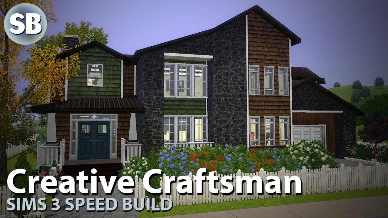 Sims 3 Speed Build Creative Craftsman All Boards House Design