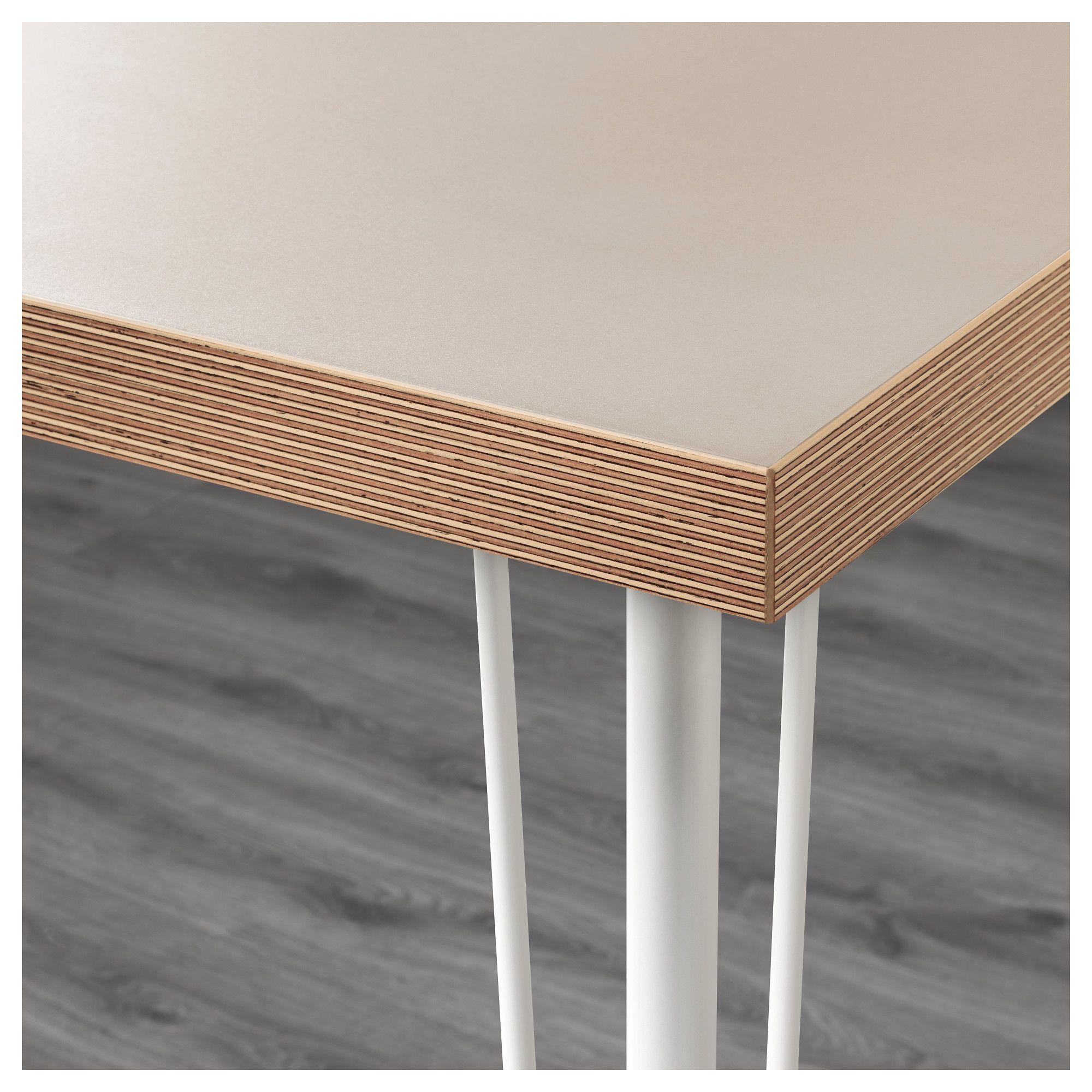LINNMON KRILLE Table Beige White