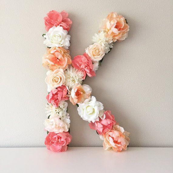 Bedroom Decor Letters large flower letter, floral nursery letter, personalized letter