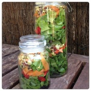 SOL BLOG POST: Salad in a jar. Easy, saves time, nutritious and BPA Free!