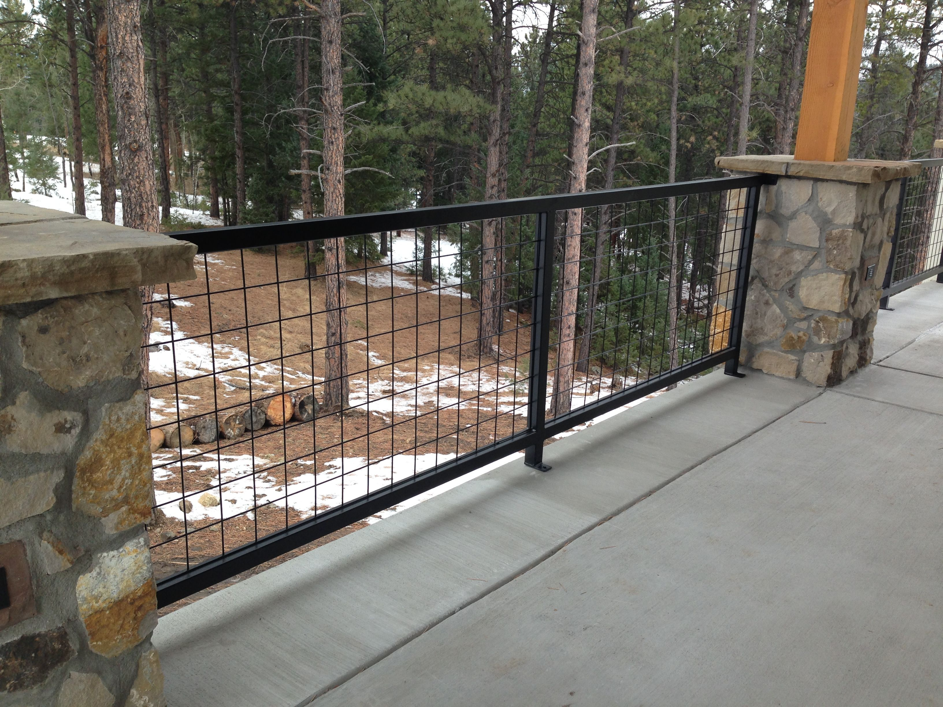 Hog Wire Deck Railing Astonishing On Modern Home Decor Ideas On ...