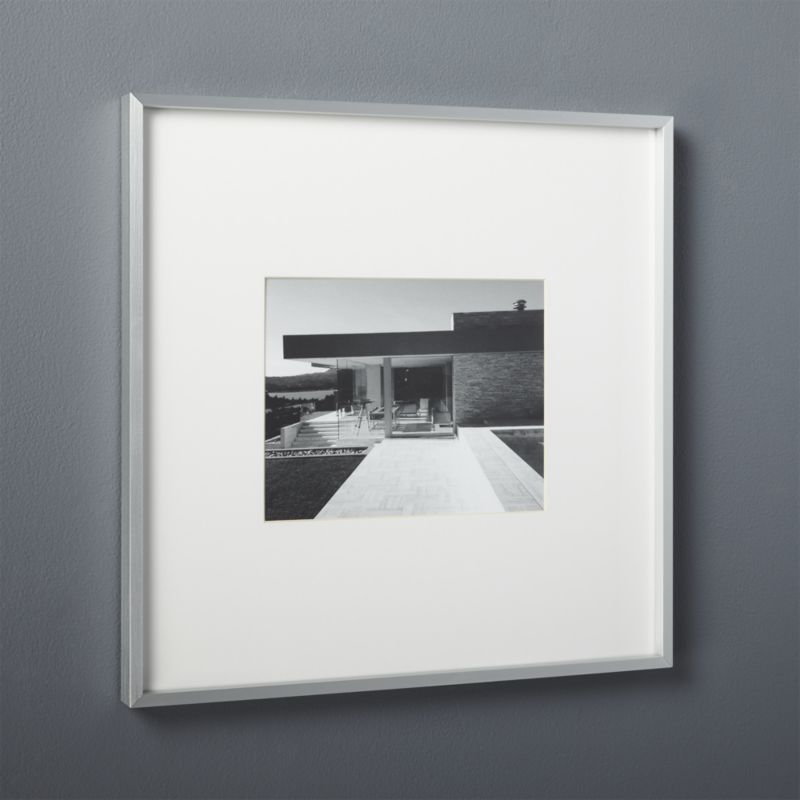 gallery brushed silver 8x10 picture frame | 8x10 picture frames ...
