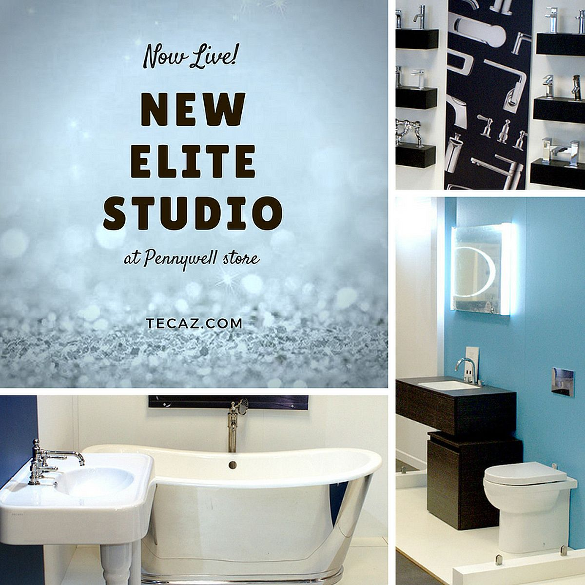 Tecaz bathroom suites - Our New Elite Studio Showroom Is Now Live At Store Up To Brands Only At Tecaz