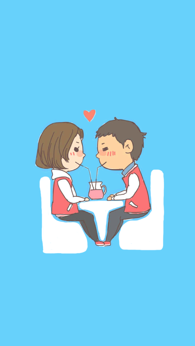 Cute & lovely couple sharing~ - iPhone wallpaper @mobile9 ...