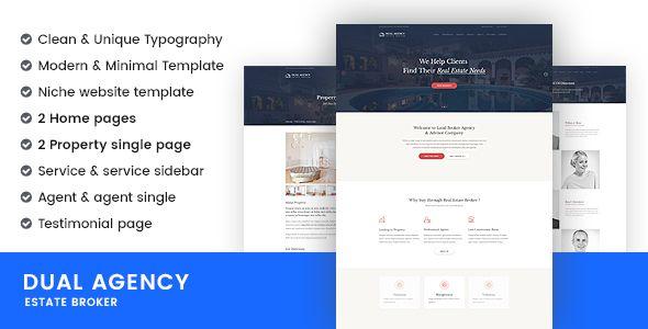 Dual agency real estate broker business website templates dual agency real estate broker business website templates wajeb Gallery