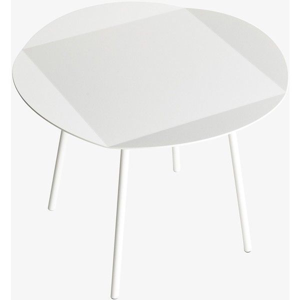 Joval White Round Side Table ($359) ❤ liked on Polyvore featuring home, furniture, tables, accent tables, white round side table, white table, white round end table, circular end table and white chairside table