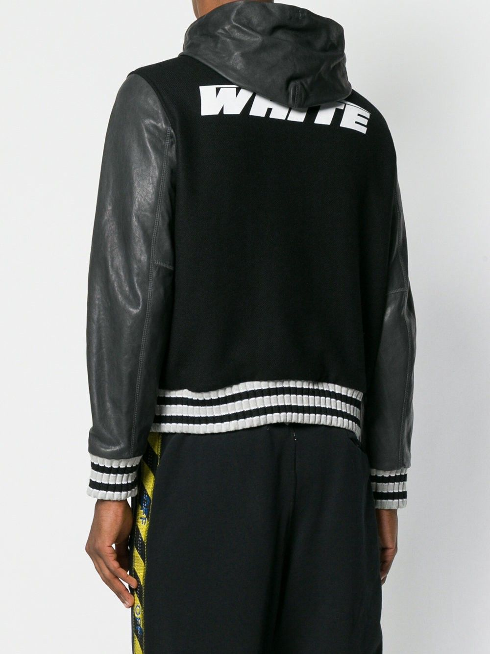 f2315b41d Off-White Contrast Bomber Jacket - M | Products | Bomber Jacket, Off ...