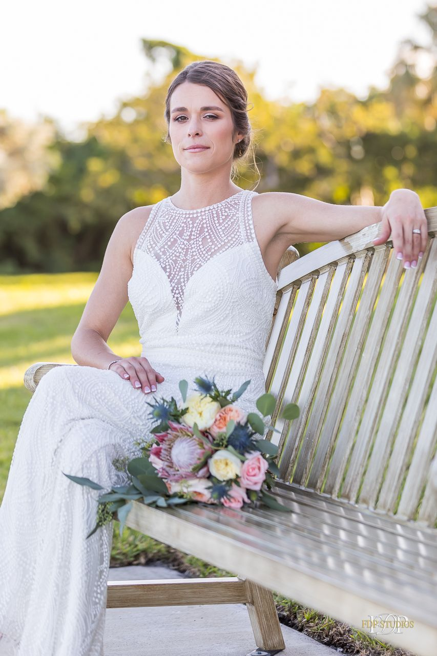 Beach wedding spots  Kimberly u Christopherus Intracoastal Park Clubhouse Wedding  Bride