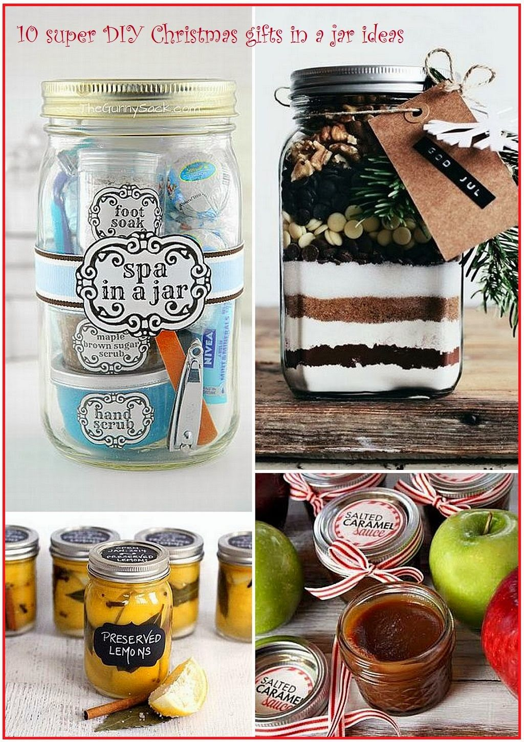 Easy and lovely Christmas gifts in a jar ideas | Gifts in a Jar ...