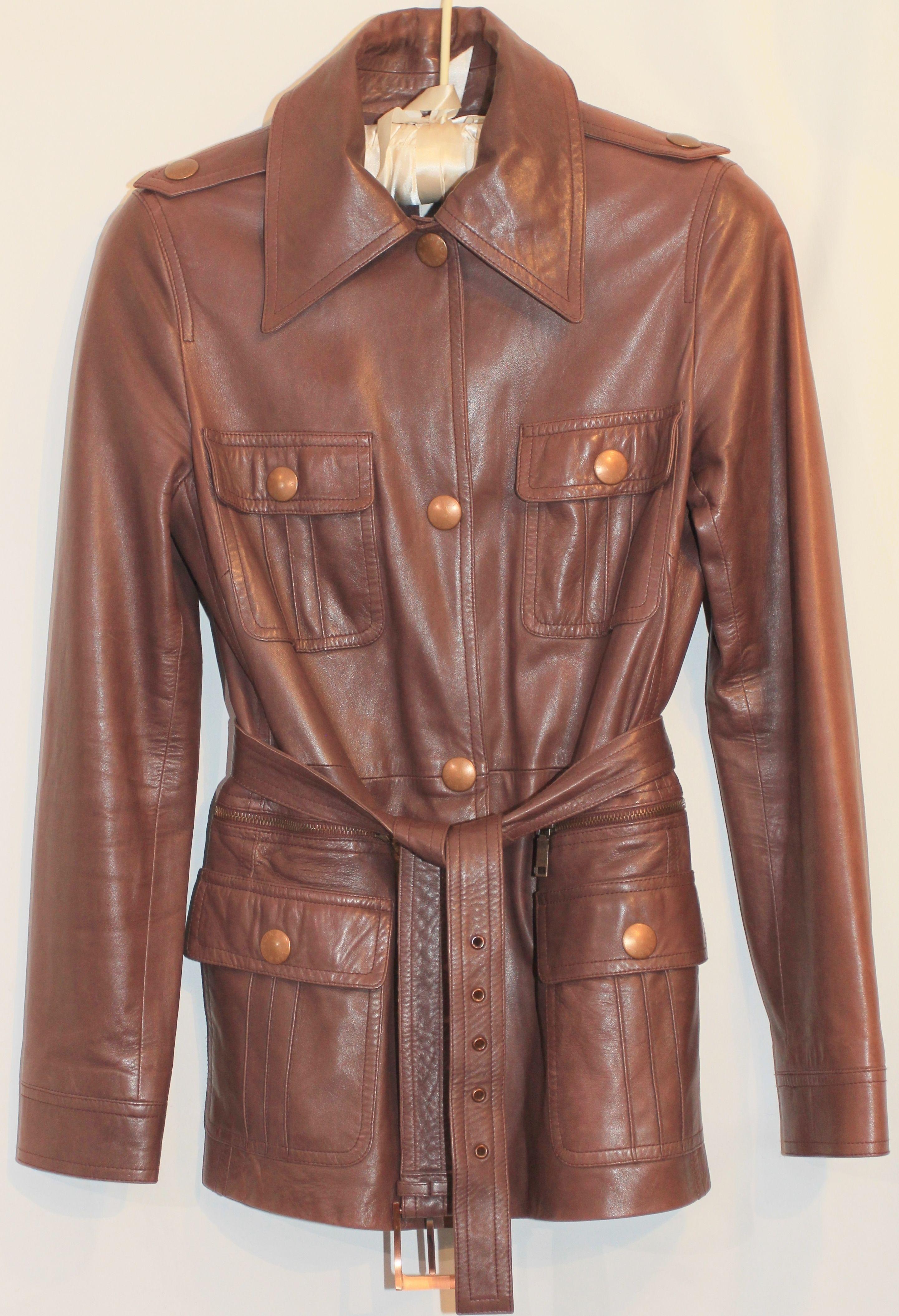 Céline Safari Jacket Size 4 (S) 96 off retail Burgundy