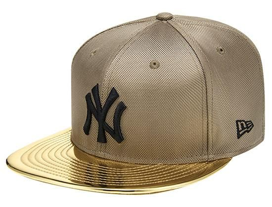 f0ffec03 Ballistic Gold New York Yankees 59Fifty Fitted Cap by NEW ERA x MLB ...