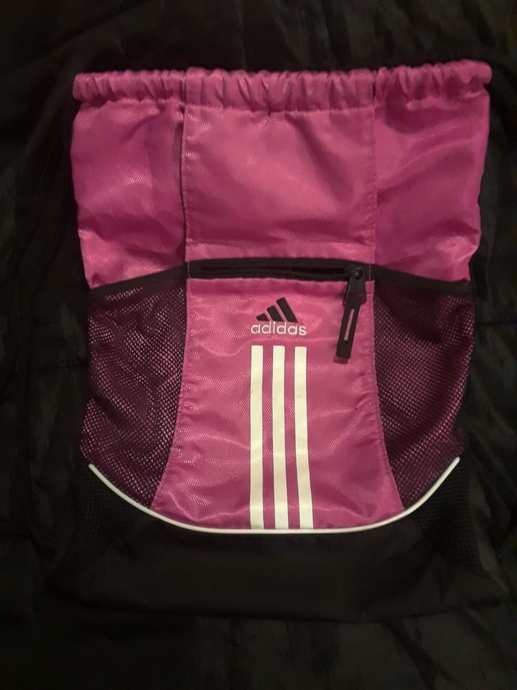 991159993831 Adidas backpack load spring school sling book bag pink black RN 90288   fashion  clothing