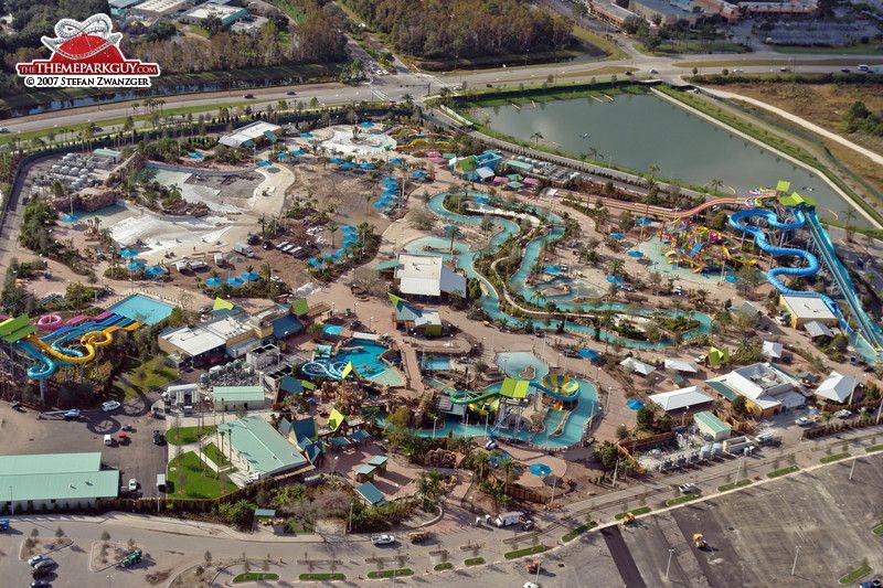Aquatica Water Park Orlando Aerial View Sea World