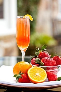 Virgin Strawberry Orange Mimosa.