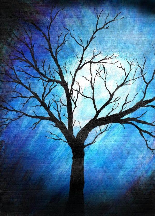 Easy Tree Painting Ideas Abstract Tree Painting Tree Painting Canvas Abstract Tree