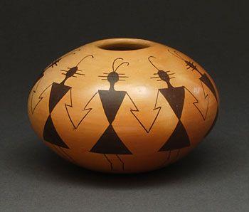 Pottery Seed Pot by Gloria Kahe (Navajo)