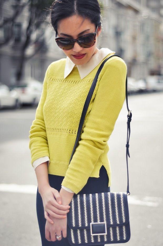 Repin Via: Joy Cho/Oh Joy! #yellow #graphic bag #stripes