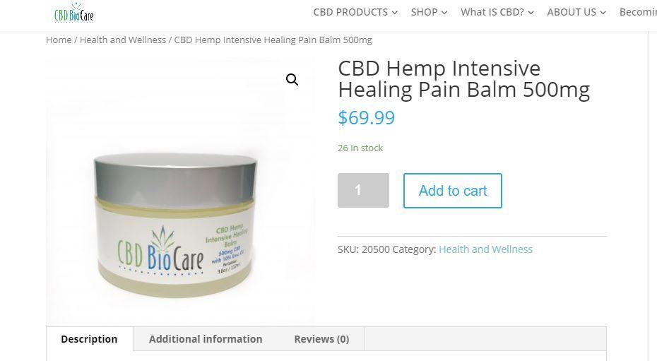 cbd healing balm