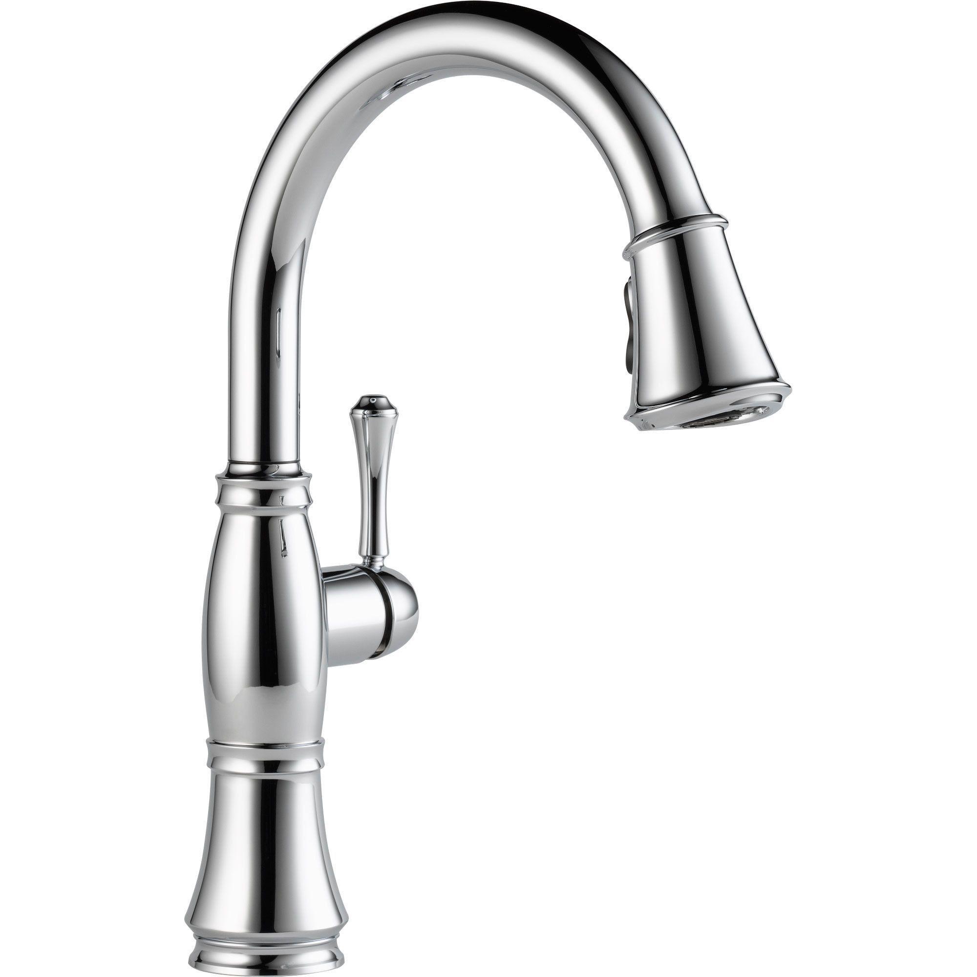 Delta Cassidy Chrome Single Handle Pull-Down Sprayer Kitchen Faucet ...