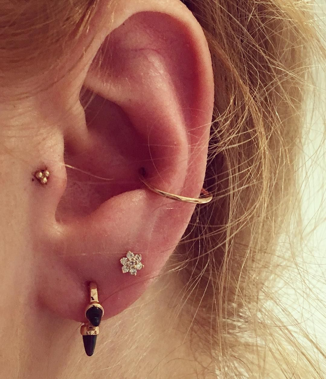 I Did This Today Got My Tragus And Conch Pierced At Maria Tash